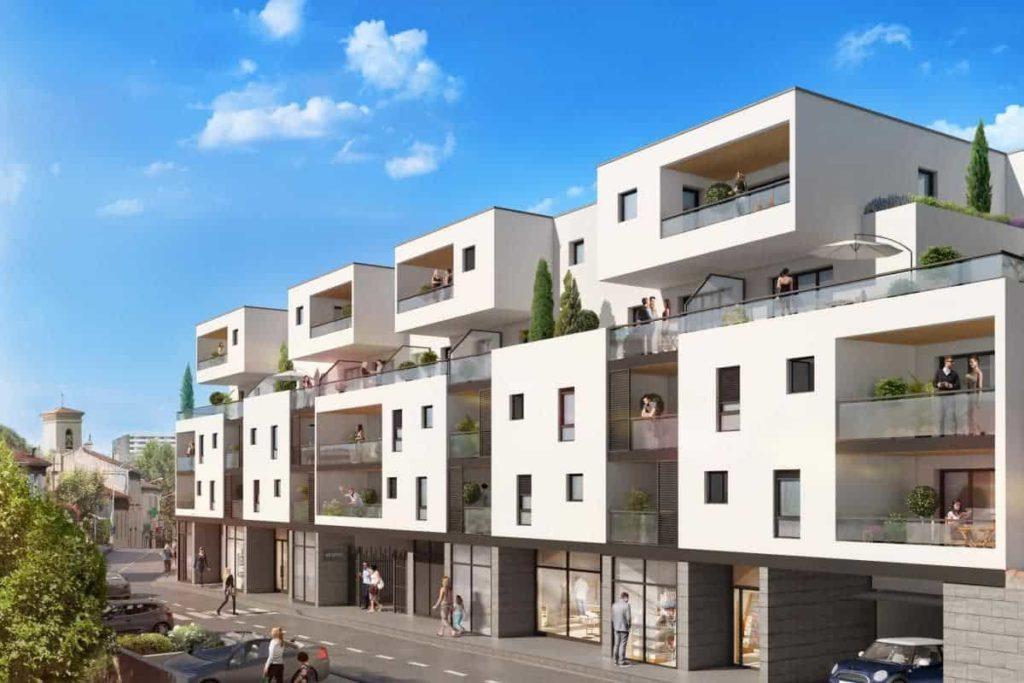 visuel 3d d'un programme immobilier neuf sagec méditerrannée à marseille