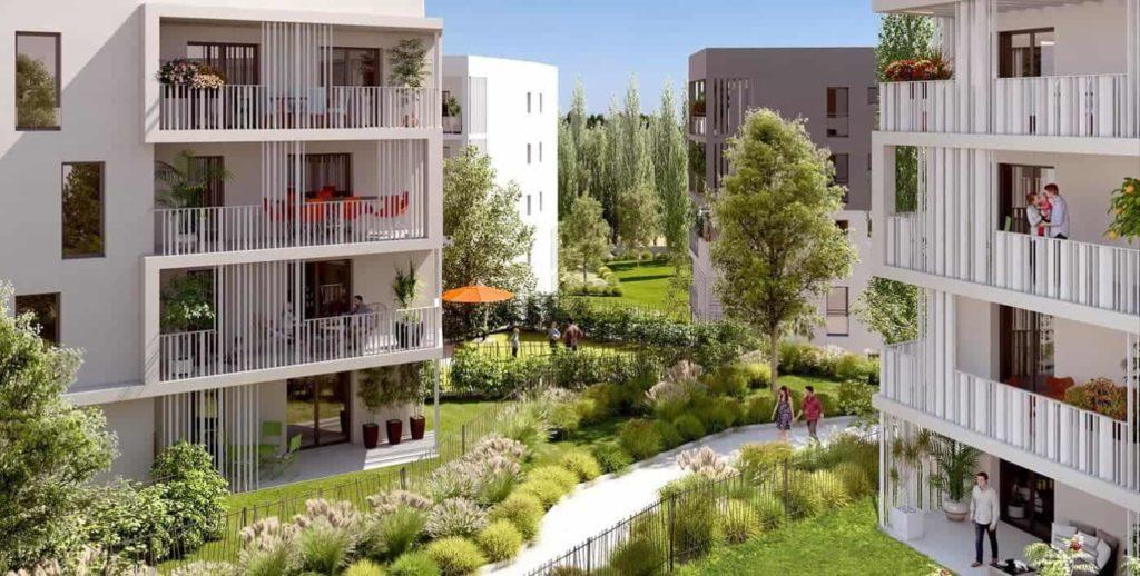 visuel 3d d'un programme immobilier nacarat à marseille