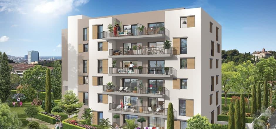 visuel 3d d'un programme immobilier neuf midi neuf à marseille