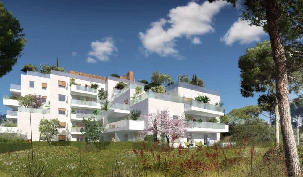 visuel 3d d'un programme immobilier neuf habside à marseille