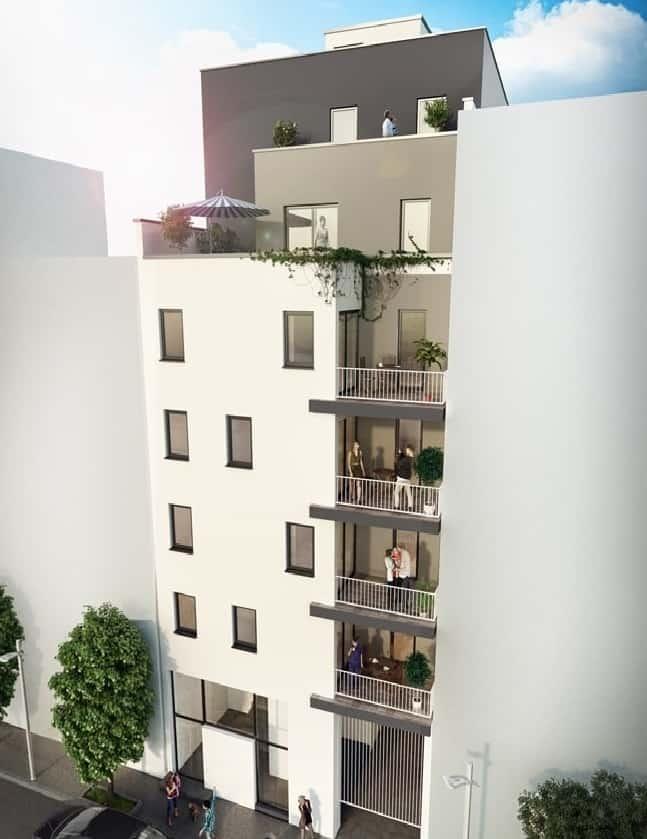 visuel 3d d'un programme immobilier asprom marseille