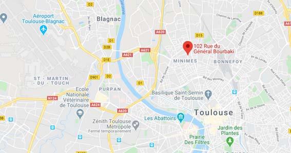plan quartier Les Minimes Toulouse appartement neuf