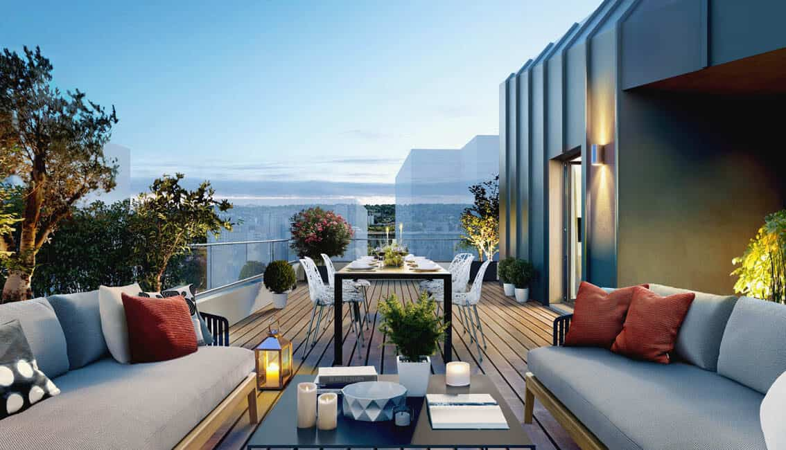 Pitch Promotion terrasse appartement neuf